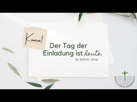Achim Jung: Der Tag der Einladung ist heute (13.06.2021)